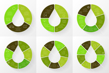 Vector Linear Circle Eco Infographic. Ecology Template For