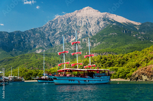 Aluminium Prints Turkey Mediterranean coast at Kemer