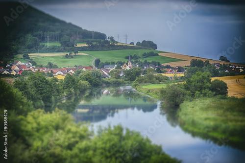 Printed kitchen splashbacks River village in the Black Forest region of Germany
