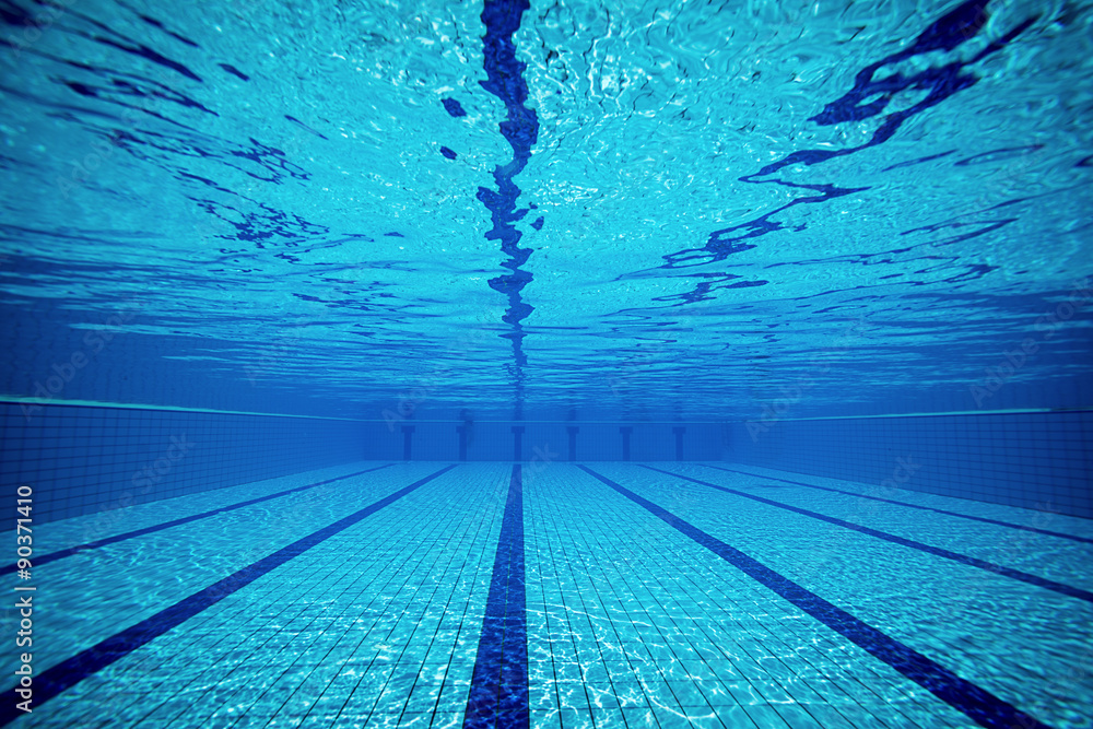 Fototapety, obrazy: Swimming pool from underwater