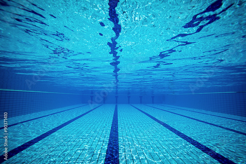 Swimming pool from underwater Fototapeta