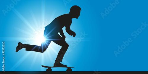 Fotografie, Obraz  skateboard