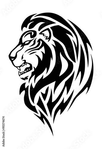 Fototapety, obrazy: lion head tattoo