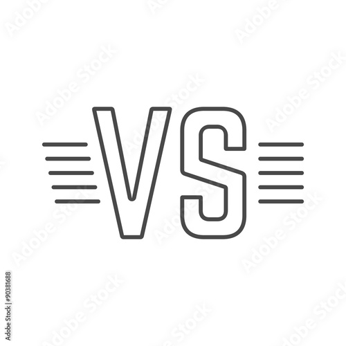 Grey Outline Versus Sign Like Opposition Buy This Stock Vector