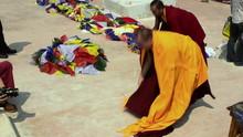 Tibetan Buddhist Monks Near St...