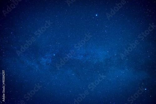 Papiers peints Nuit Blue dark night sky with many stars
