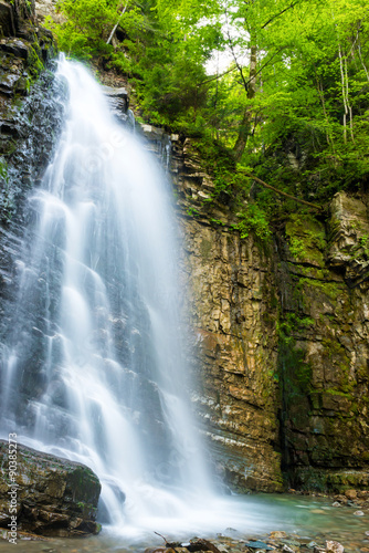 Beautiful waterfall in the forest - 90385273