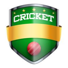 Cricket Shield Badge.