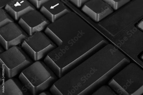 Fotobehang Stof Close up of keyboard of modern laptop