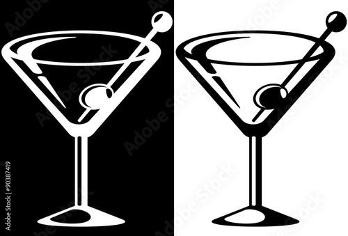 Fotografía  Martini glass icon.