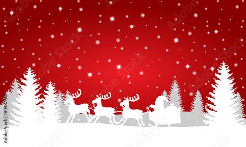 Foto-Doppelrollo - Weihnachtslandschaft -Vektor (von ii-graphics)