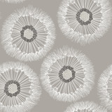 Seamless pattern of dandelion. Hand-drawn floral background.  - 90388003