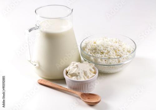 Poster Produit laitier Milk products