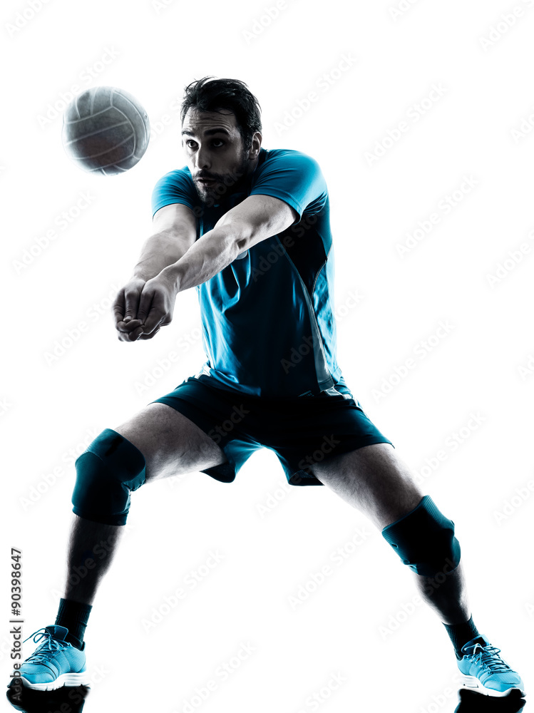 Homme volleyball silhouette Poster