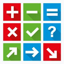 Hinweis Icon Set Farbe