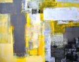 Szary i żółty streszczenie sztuka malarstwo - 90401472