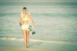 Beautiful Surfer Girl on the Beach