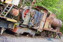 Obsolete Locomotive In A Sidin...