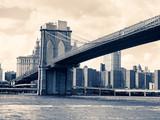 The Brooklyn Bridge in New York - 90408429