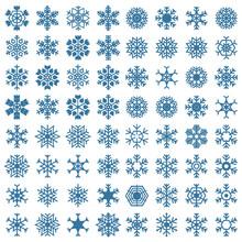 Set Of Snowflakes, Vector Illu...