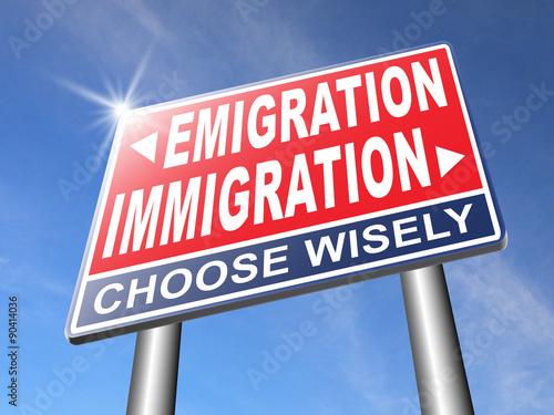 Valokuva  Immigration or emigration