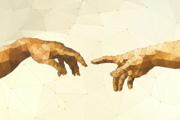 FototapetaAbstract God's hand vector illustration
