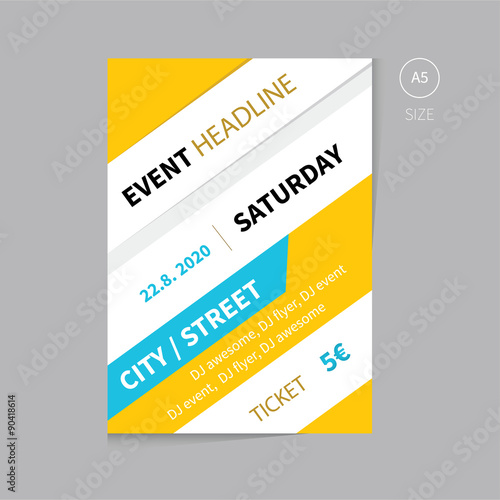 vector event brochure flyer template design a5 size buy this stock