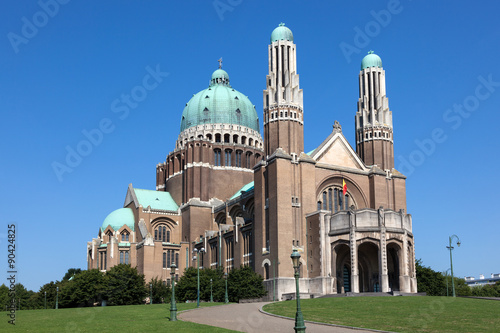 Foto op Canvas Brussel Basilica of the Sacred Heart in Brussels