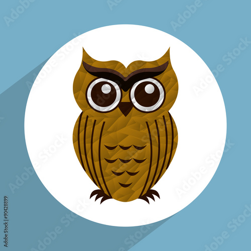 Photo Stands Owls cartoon owl icon