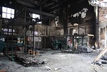 Textile Mill Fire Scene