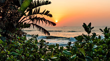 View Of Ships On The Indian Ocean From Umhlanga Rocks Promenade At Sunrise