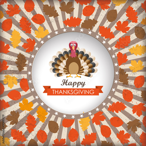 Fotografering  Thanksgiving Cover Stripes Hole Turkey