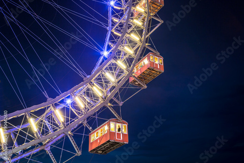 The Giant Ferris Wheel at the Prater, Vienna, Austria