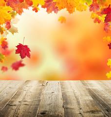 Naklejka na ściany i meble autumn leaves background