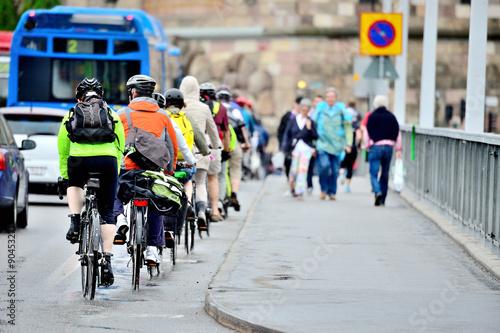 Foto op Aluminium Bike crowd