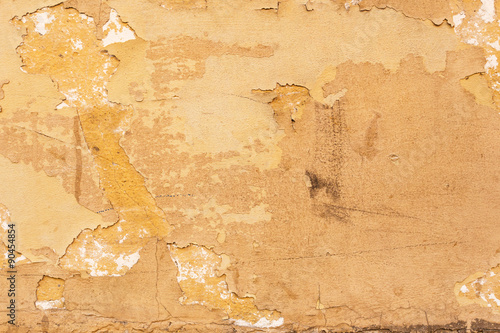 Foto auf AluDibond Alte schmutzig texturierte wand Old yellow plaster texture background