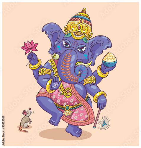 Photo  Indian god Ganesha