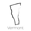 Scribbled shape of the State of Vermont
