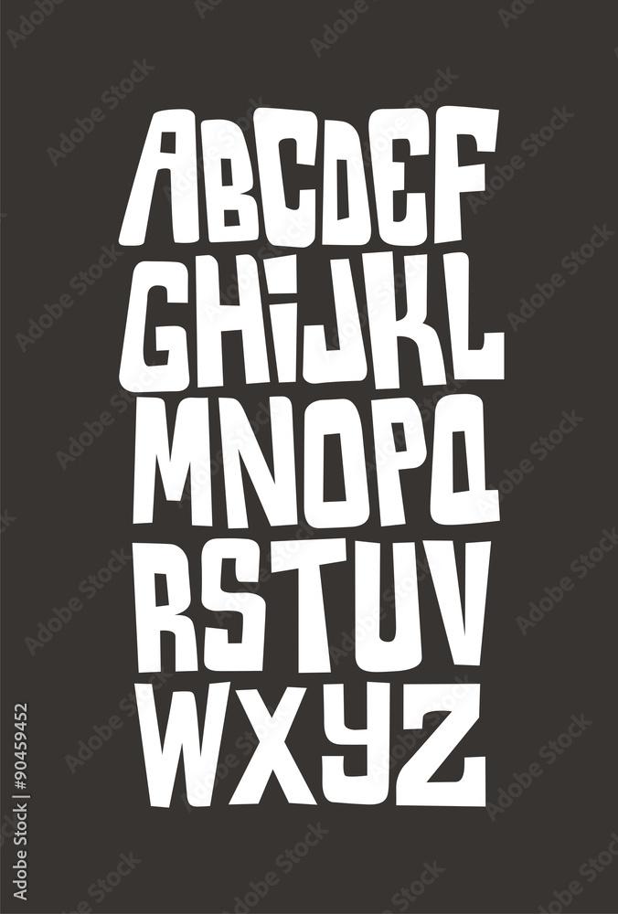 Photo & Art Print Cartoon comic graffiti font alphabet