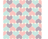 Simply Heart Pastel Pattern, Valentines