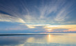 Panoramic dramatic tropical sea sky sunset background