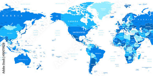 Highly Detailed Vector Illustration Of World Map Image Contains