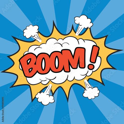 Fotografía  BOOM! Wording Sound Effect for Comic Speech Bubble