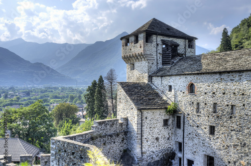 Vogogna (Ossola Valley, Piedmont): the Visconti castle. Color image