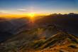 Sonnenaufgang in den Tiroler Bergen