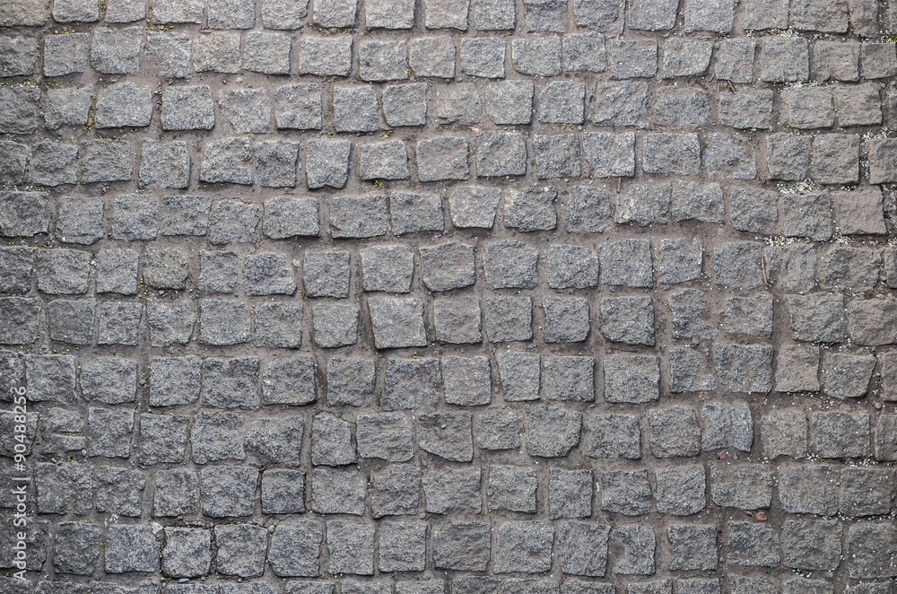 Fototapety, obrazy: Old road paved with granite stones