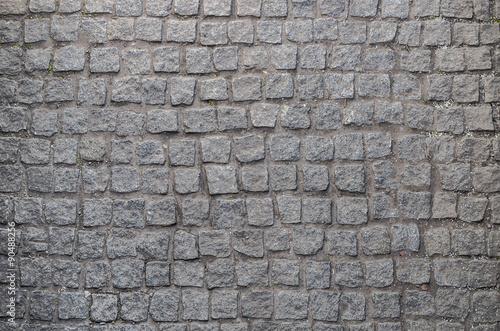 Obraz Old road paved with granite stones - fototapety do salonu