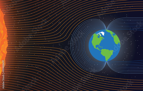 Magnificent Magnetic Field Of Earth Protect The Earth From Solar Wind Vector Wiring Cloud Mangdienstapotheekhoekschewaardnl