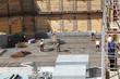 Eisenflechter in der Baugrube