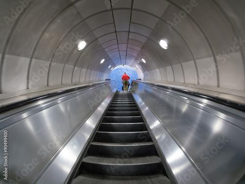 Photo  London subway escalators